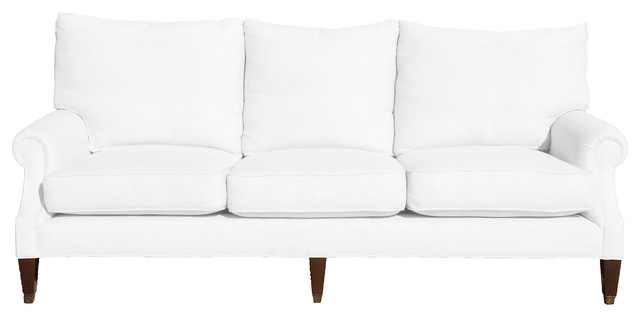 Bentley Linen Sofa Oyster Contemporary Sofas
