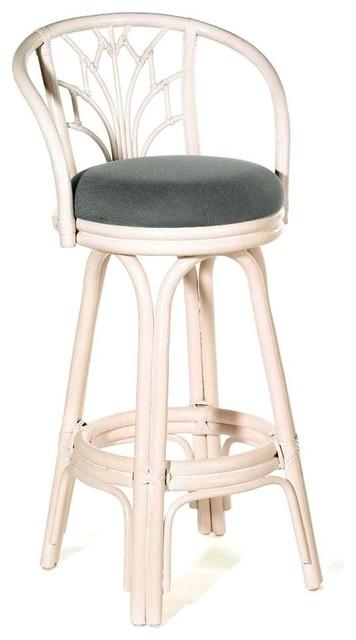Indoor Swivel Rattan amp Wicker Counter Stool w Cushion  : coastal bar stools and kitchen stools from www.houzz.co.uk size 356 x 640 jpeg 33kB