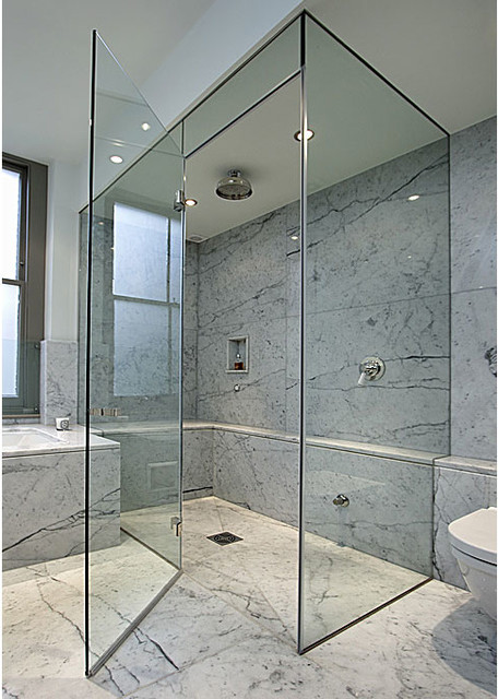 Frameless Shower Doors, Frameless Glass Enclosures - Contemporary - Shower Doors - New York - by ...