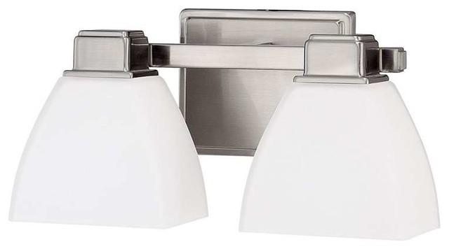 Capital Lighting 2 Light Vanity Fixture Brushed Nickel Contemporary Bathroom Vanity Lighting