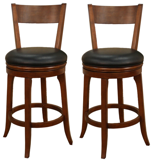 American heritage autumn bar stool in suede with black - Traditional kitchen bar stools ...