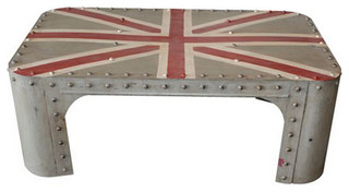 Union Jack Industrial Coffee Table Eclectic Coffee