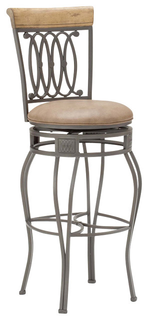 Hillsdale Montello 32 Inch Swivel Barstool Transitional