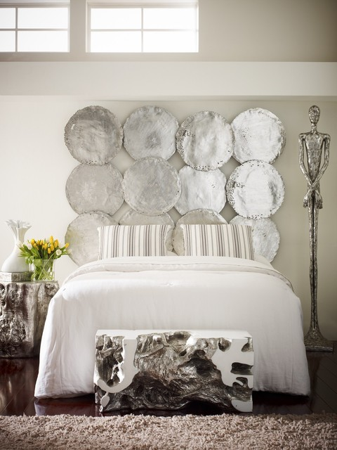 Silver Oil Drum Discs For The Wall Contemporary