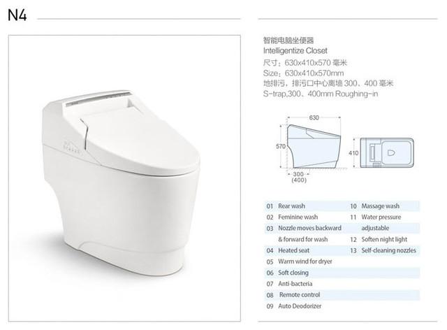 Casa S Electronic Smart Toilet With Bidet Massage Spray