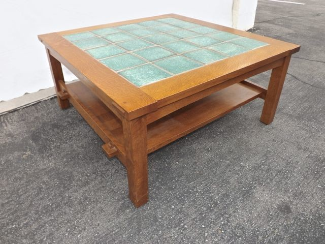 Stickley Tile Top Cocktail Table Craftsman Coffee Tables Los Angeles