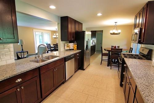 Azul Platino Granite Kitchen Countertop Design Ideas