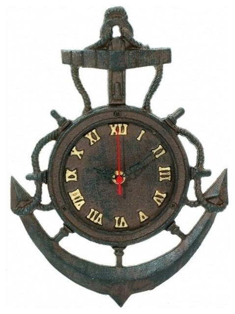 Clock 12 Beach Style Wall Clocks By Handcrafted Nautical Decor