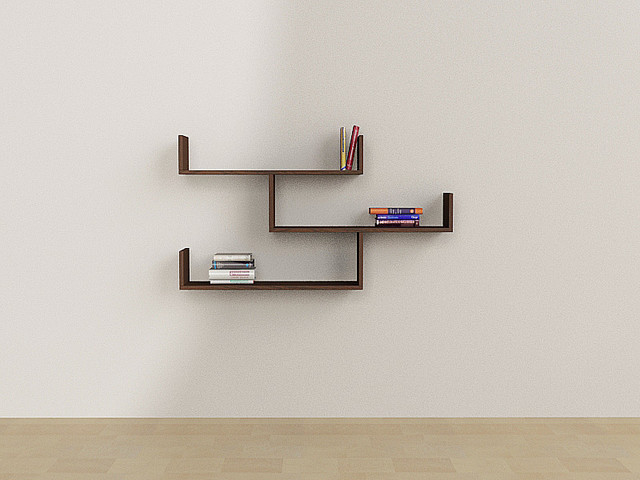 Tibet Wall Shelf Bookcase By Matte Contemporary Display And Wall Shelve
