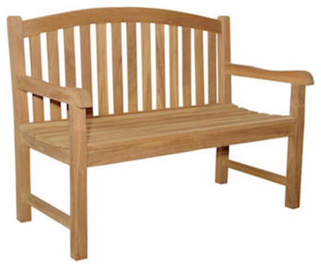 Anderson Teak Patio Lawn Garden Furniture Chelsea 2 Seater Bench Contemporary Outdoor