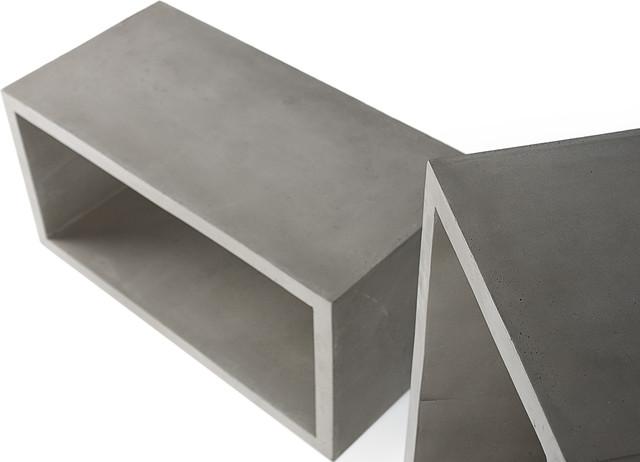Monobloc cube de rangement b ton m monobloc concrete storage cube m - Prix du metre cube de beton ...