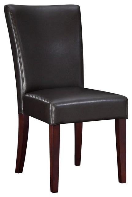 bonded leather parsons chair contemporary dining chairs
