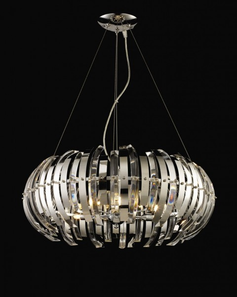 Large Aurora Contemporary Crystal Pendant Light Designer