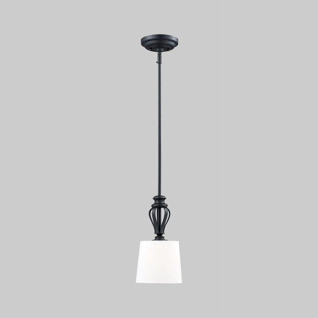 Charleston Matte Black 1 Light Mini Pendant