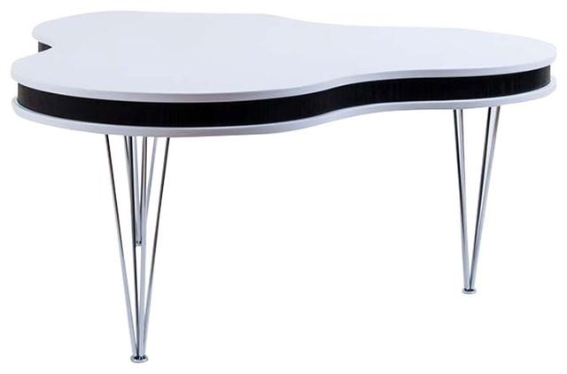 Trekløver sofabord, hvid/sort   skandinavisk   sofaborde   af ...