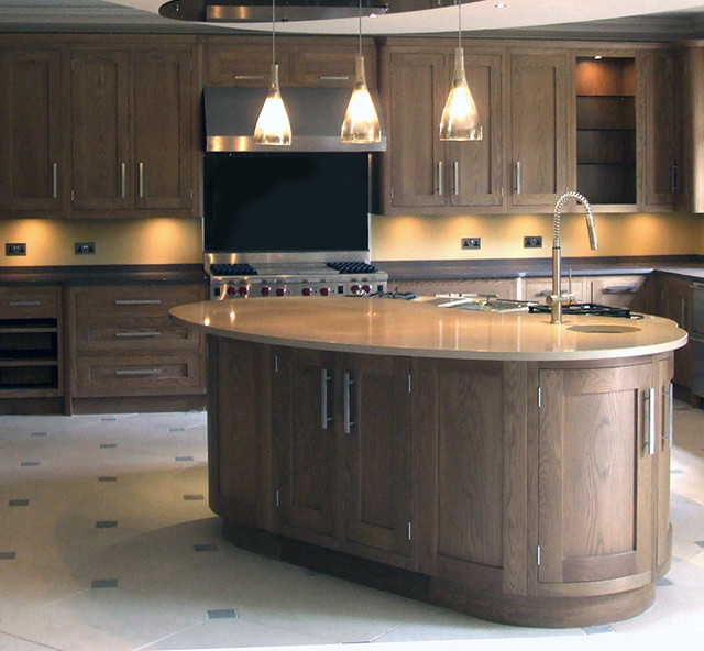 oak shaker kitchen modern k che yorkshire and the humber von judith harrop interior design. Black Bedroom Furniture Sets. Home Design Ideas