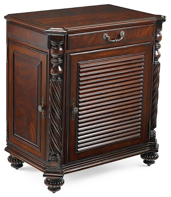 Forsyth Double Bar Cabinet - Traditional - Wine And Bar Cabinets