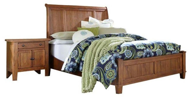 Broyhill Attic Heirlooms Vintage Sleigh Bed 4 Piece Bedroom Set Transitional Beds By Cymax