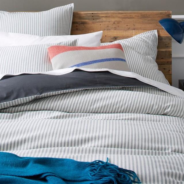 Ticking Stripe Duvet Cover Traditional Duvet Covers