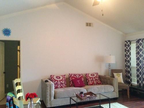 Vast Blank Wall Space In Living Room