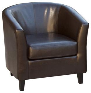 Petaluma Tub Design Leather Club Chair Armchairs And