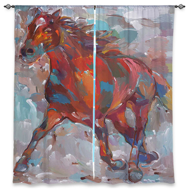 Horse window curtains