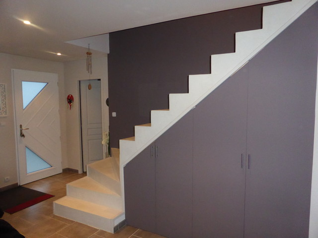 Cr ation beton color design escalier b ton cir for Beton cire escalier bois