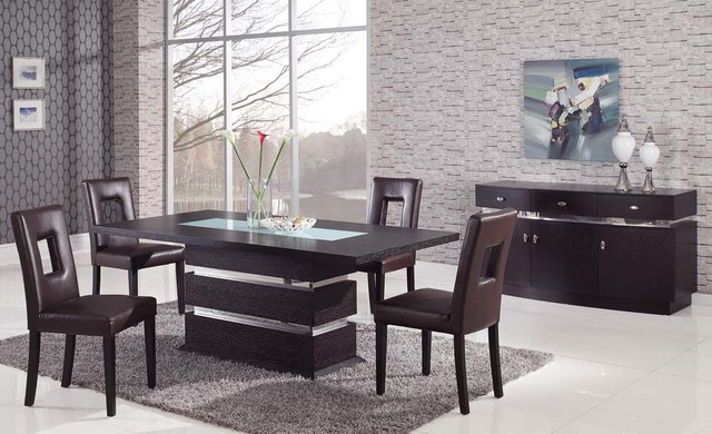 frosted glass top leather modern dining set contemporary dining sets