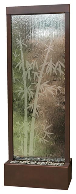 7 5 39 dark copper bamboo gardenfall floor water fountain - Japanese indoor water fountain ...