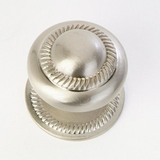 Q.M.I. KB-41-SN Rope Back Plate Knob, Satin Nickel - Contemporary - Cabinet And Drawer Knobs ...