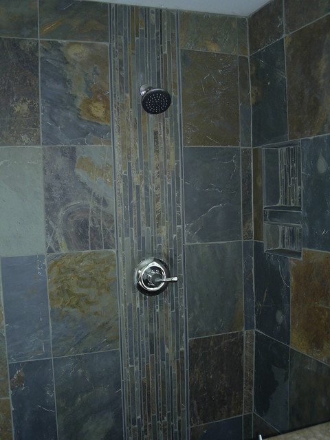Slate Shower Detroit By Maloney Tile amp Marble Inc