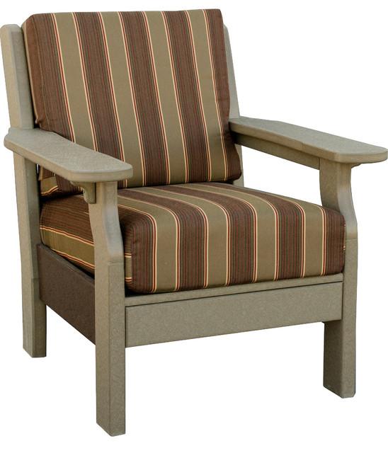 "Van Buren Chair Purple With Astoria Lagoon Fabric 5"" Cushion Patio Fu"