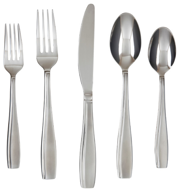 Farberware Allspice Sand 18 0 45 Piece Contemporary Flatware And Silverware Sets By