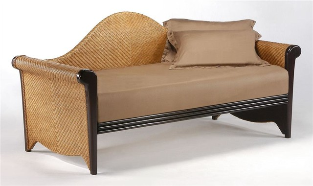 twin daybed in wood rattan tropical daybeds by shopladder. Black Bedroom Furniture Sets. Home Design Ideas