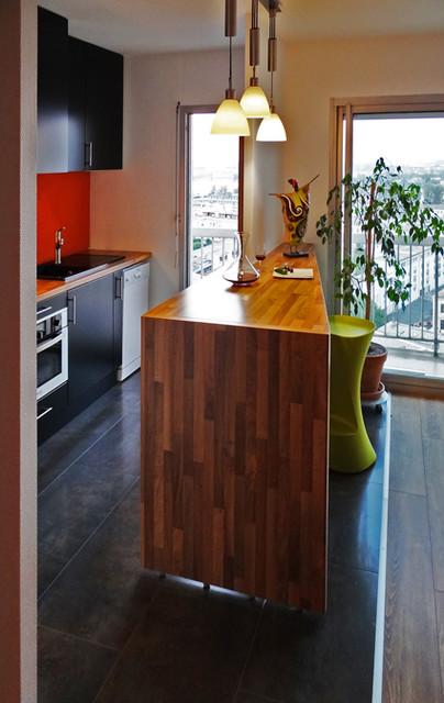 Requalification de la cuisine d 39 un appartement ouverture - Ouverture cuisine sur sejour ...