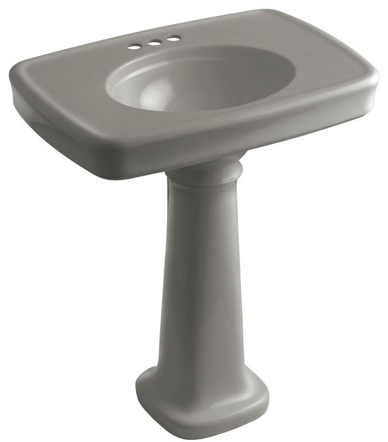 Bancroft Pedestal Sink : KOHLER Bathroom Bancroft Pedestal Combo Bathroom Sink in Cashmere K ...