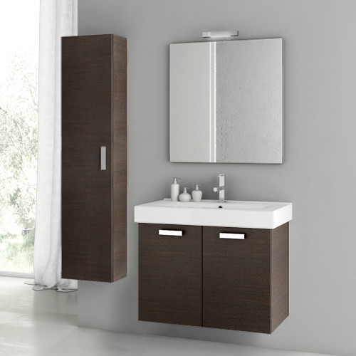 28 inch wenge bathroom vanity set contemporary bathroom vanities and