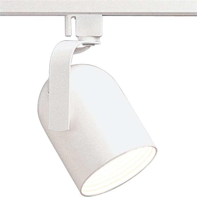 White Pendant Track Lighting: Progress Lighting Alpha Trak 1-Light Track Head, White
