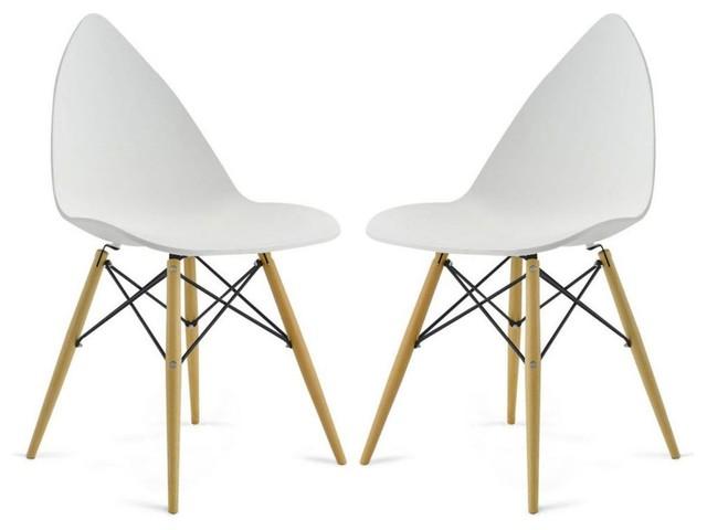 Lot de 2 chaises design clover couleur blanc - Chaises de couleurs ...