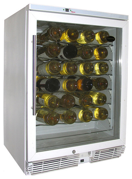 Vinotemp - 58-Bottle Wine Cooler (White) - Contemporary - Beer And Wine Refrigerators - salt ...
