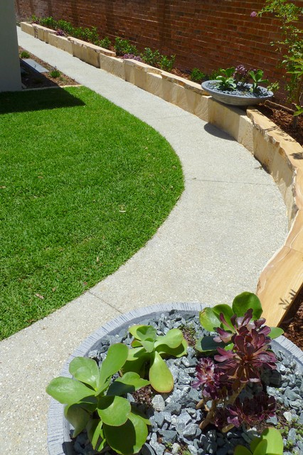 Landscaping perth Vickis house Contemporary perth