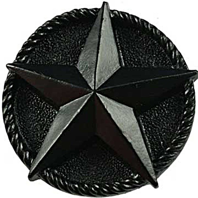 Star knob black rustic cabinet and drawer knobs by for Star cabinet pulls