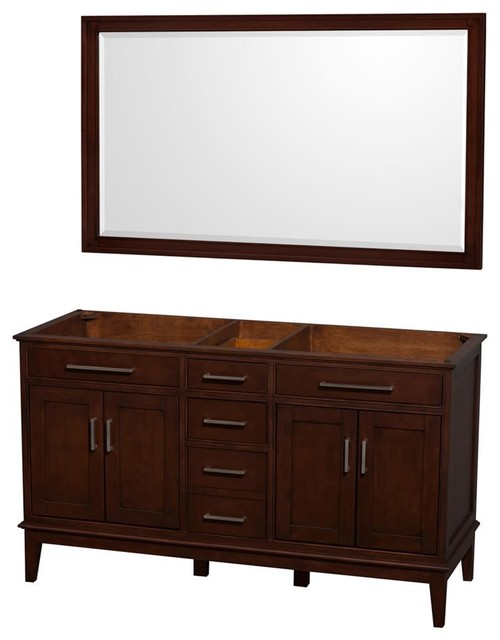 60 In Eco Friendly Double Bathroom Vanity With Matching Mirror Transitional Bathroom