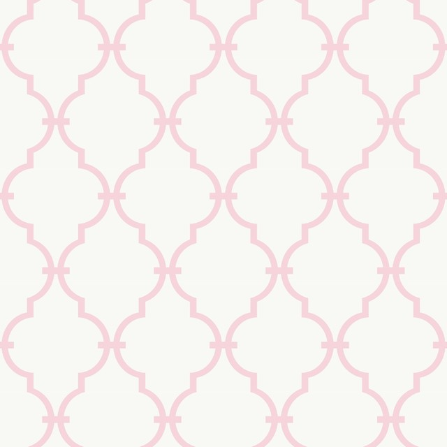 Ys9101 Modern Baby Trellis Kids Girl Diamond Wallpaper - Contemporary - Wallpaper - by The Fabric Co