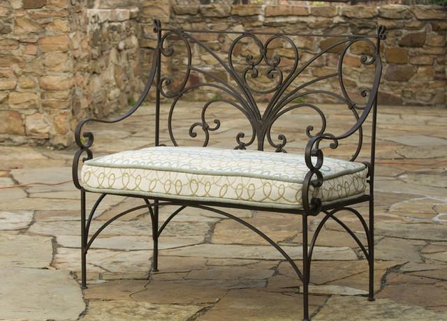 English iron garden bench traditional outdoor benches for Traditional garden furniture