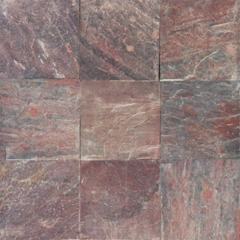 Sample of 16x16 copper gauged transitional wall for 16x16 floor tile