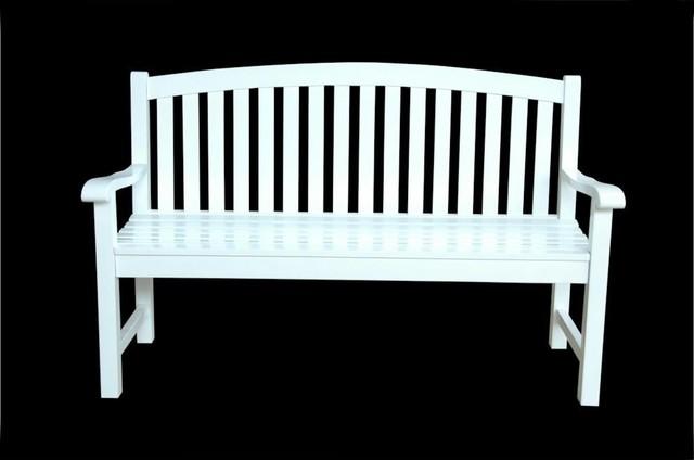 Modern Outdoor Benches : ... Teak Hamilton 2-Person Wood Patio Bench - Modern - Outdoor Benches