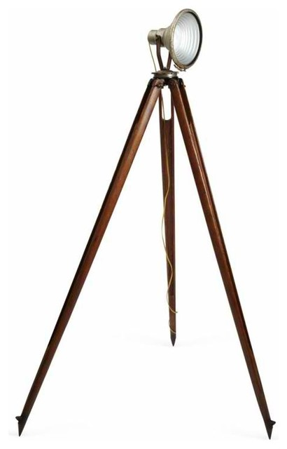 Spotlight on tripod contemporary floor lamps new york by omero - Tripod spotlight lamp ...