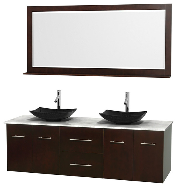 All In One Bathroom Sink And Countertop : ... Countertop, Sinks and Mirror contemporary-bathroom-vanities-and-sink