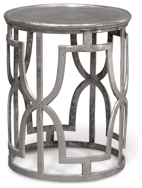 Kim Side Table, Silver Nyklassisk Sidobord& avlastningsbord av Seldens Furniture
